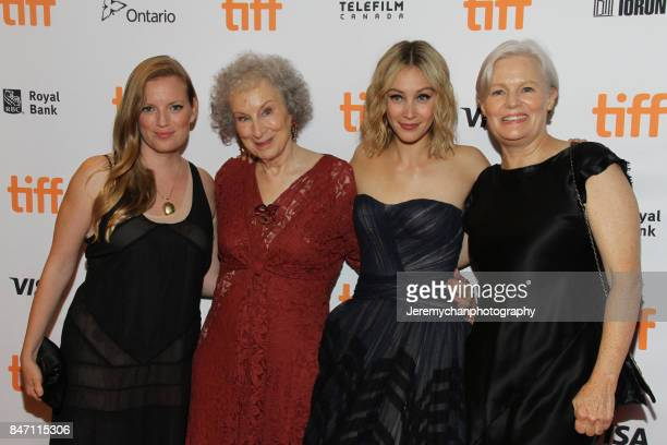 Producer Sarah Polley author Margaret Atwood actor Sarah Gadon and director Mary Harron attend the 'Alias Grace' Premiere held at Winter Garden...