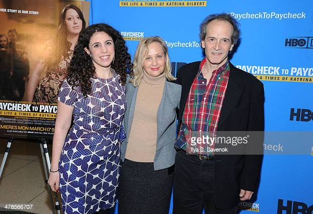 """Producer Sascha Weiss and Directors Shari Cookson and Nick Doob attend """"Paycheck To Paycheck: The Life And Times Of Katrina Gilbert"""" New York..."""