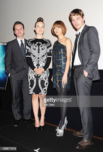 Producer Sean Bailey actress Olivia Wilde actress Yu Yamada and actor Garrett Hedlund attend the 'Tron Legacy 3D' presentation as part of the 23rd...