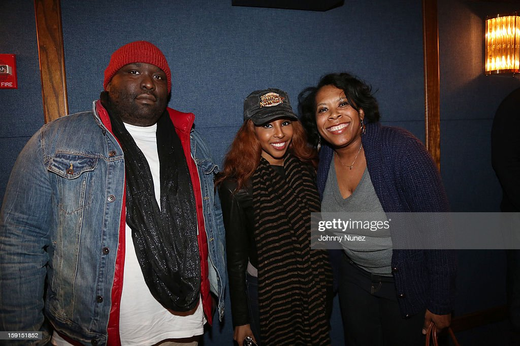 Producer Sean Banks, blogger Necole Bitchie and Heather B. Gardner attend the 'LUV' Tastemaker Screening at Soho House on January 8, 2013 in New York City.