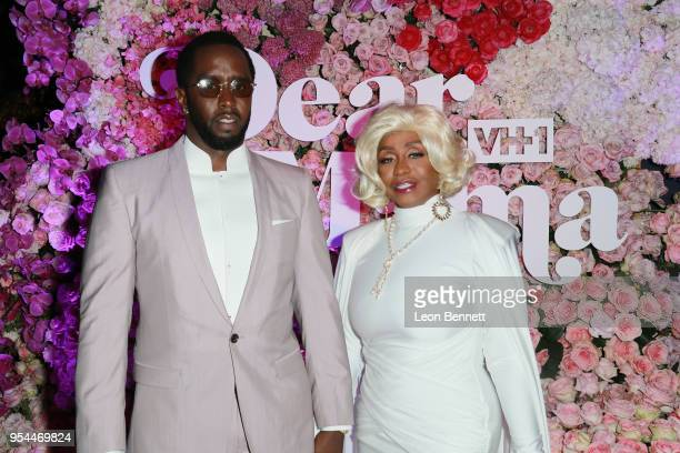 Producer Sean Combs and his mother Janice Combs attend the VH1's 3rd Annual Dear Mama A Love Letter To Moms Cocktail Reception at The Theatre at Ace...