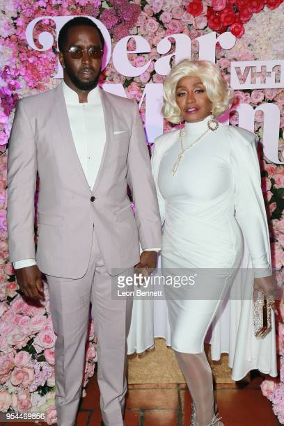 Producer Sean Combs and his mother Janice Combs attend the VH1's 3rd Annual 'Dear Mama A Love Letter To Moms' Cocktail Reception at The Theatre at...