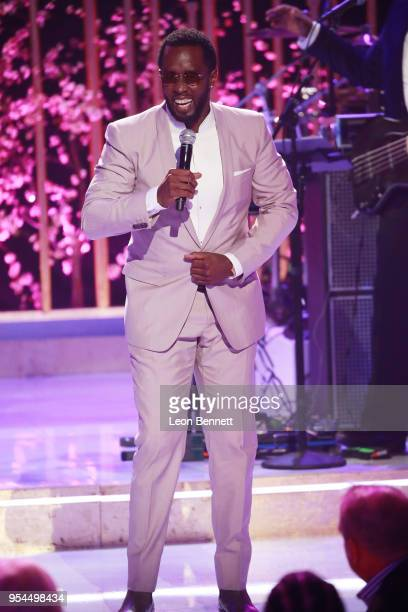 Producer Sean Combs speaks onstage during VH1's 3rd Annual Dear Mama A Love Letter To Moms Inside Show at The Theatre at Ace Hotel on May 3 2018 in...