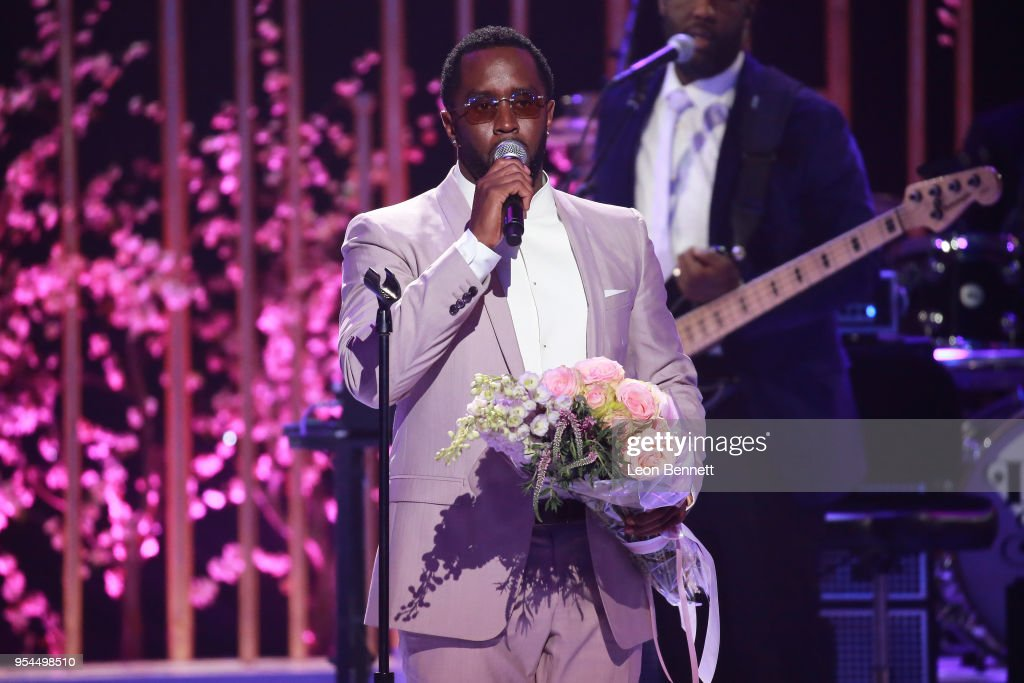 Producer Sean Combs speaks onstage during VH1's 3rd Annual 'Dear Mama: A Love Letter To Moms' - Inside Show at The Theatre at Ace Hotel on May 3, 2018 in Los Angeles, California.