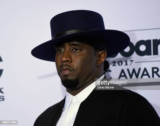 Producer Sean 'Diddy' Combs poses in the press room during the 2017 Billboard Music Awards at TMobile Arena on May 21 2017 in Las Vegas Nevada