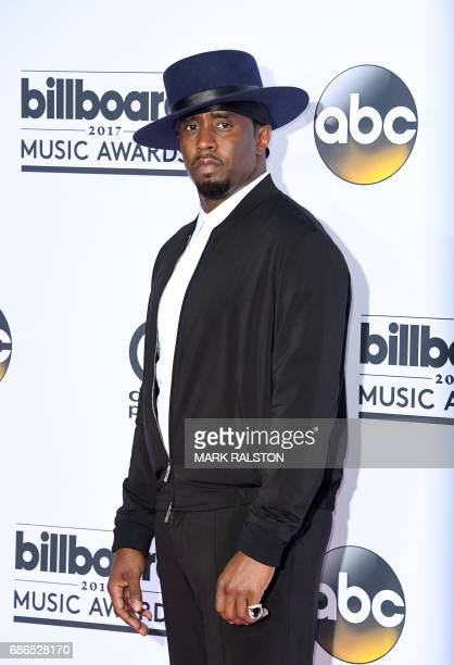 Producer Sean 'Diddy' Combs poses in the press room during the 2017 Billboard Music Awards at the TMobile Arena on May 21 2017 in Las Vegas Nevada /...