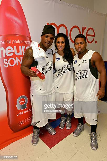 Producer Sean Garrett Basketball Wives of LA Laura Govan and Singer/Songwriter Bobby Valentino during Neuro Drinks At LudaDay Weekend Celebrity...