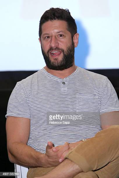 Producer Sean Robins speaks onstage at the Hollywood Today panel at the 1st Annual Laguna Film Festival Day 2 on October 17 2015 in Laguna Niguel...