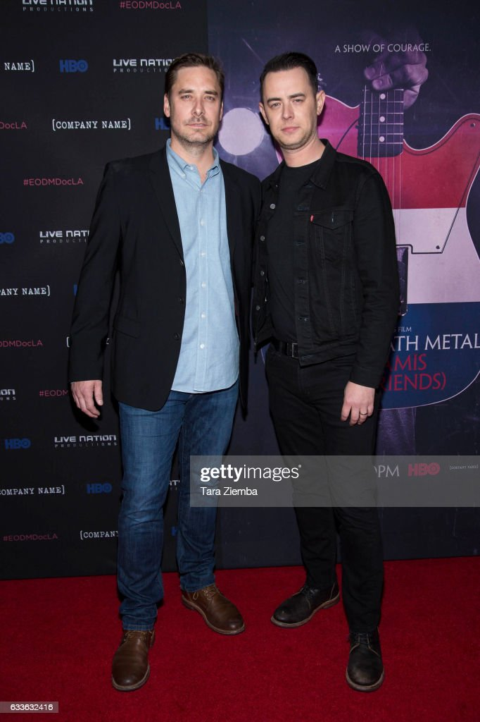 Producer Sean Stuart and director Colin Hanks attend the premiere of HBO's 'Eagles Of Death Metal: Nos Amis (Our Friends)' at Avalon Hollywood on February 2, 2017 in Los Angeles, California.
