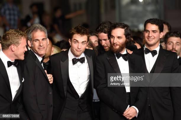 Producer Sebastian BearMcClard Guest actor Robert Pattinson writer and codirector Joshua Safdie and codirector Ben Safdie attend the 'Good Time'...