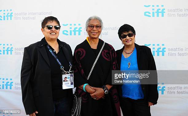Producer Shaheen Haq writer Alice Walker and director Pratibha Parmar attend Seattle International Film Festival world premiere of 'Alice...