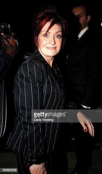 Producer Sharon Osbourne leaves Cipriani restaurant on August 15, 2005 in London, England.