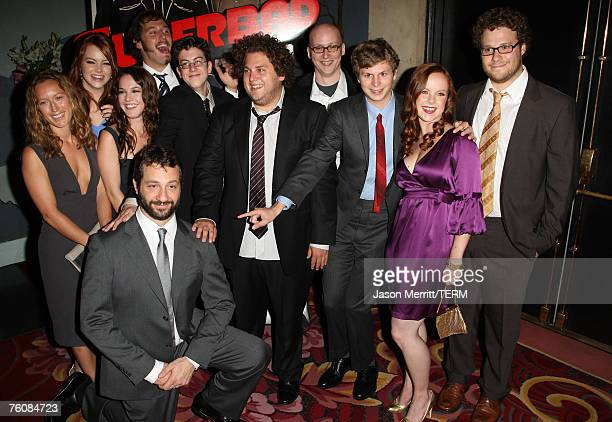 Producer Shauna Robertson actors Emma Stone Martha Macisaac Christopher MintzPlasse Jonah Hill director Greg Motola actors Michael Cera Aviva...