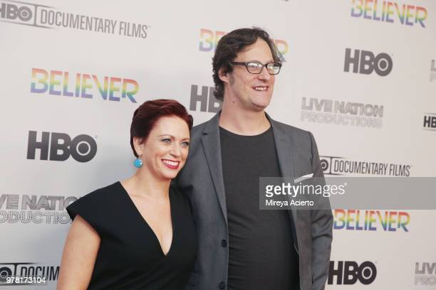 Producer Sheena M Joyce and director Don Argott attend the Believer New York Premiere at Metrograph on June 18 2018 in New York City