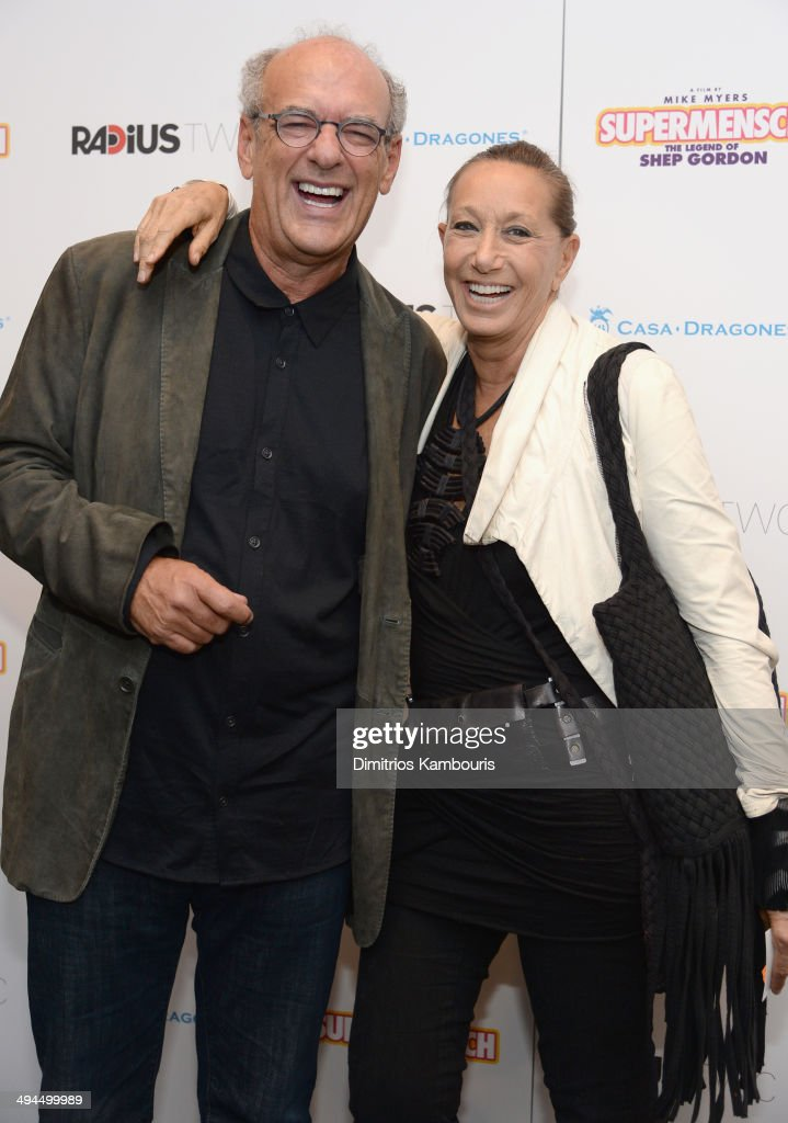 Producer Shep Gordon and designer Donna Karan attend the ''Supermensch: The Legend Of Shep Gordon' screening at The Museum of Modern Art on May 29, 2014 in New York City.