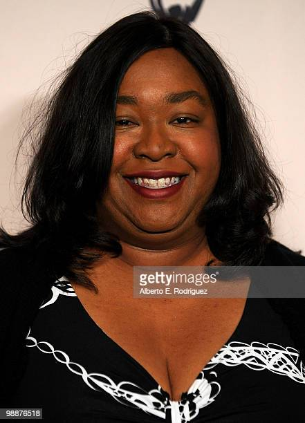 Producer Shonda Rhimes arrives at the Academy of Television Arts Sciences' 3rd Annual Academy Honors at the Beverly Hills Hotel on May 5 2010 in...