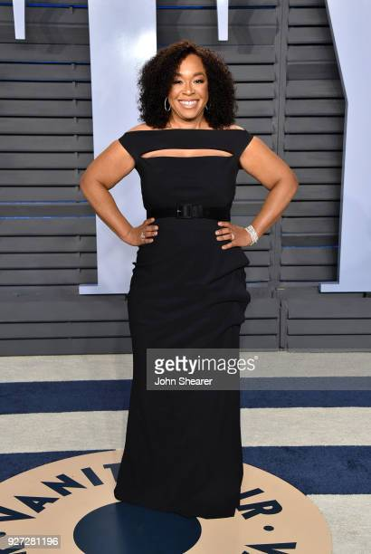 Producer Shonda Rhimes attends the 2018 Vanity Fair Oscar Party hosted by Radhika Jones at Wallis Annenberg Center for the Performing Arts on March 4...