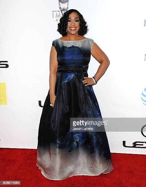 Producer Shonda Rhimes attends the 47th NAACP Image Awards at Pasadena Civic Auditorium on February 5 2016 in Pasadena California