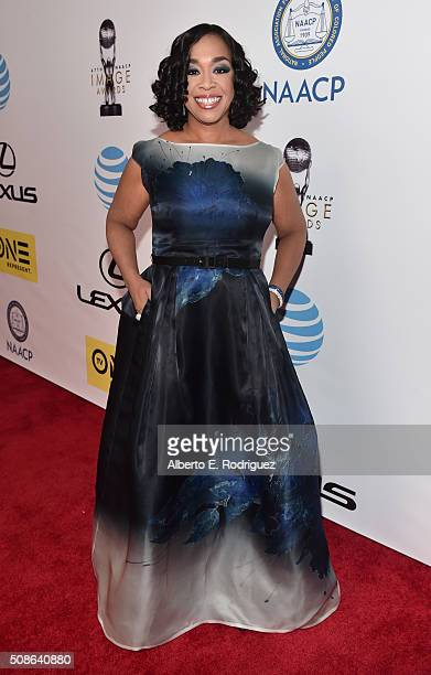 Producer Shonda Rhimes attends the 47th NAACP Image Awards presented by TV One at Pasadena Civic Auditorium on February 5 2016 in Pasadena California