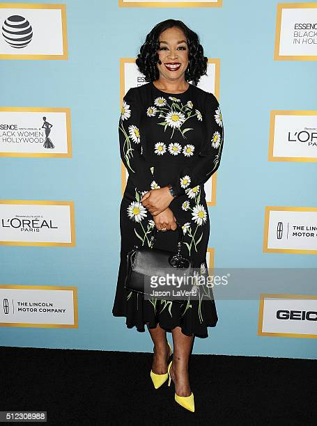 Producer Shonda Rhimes attends the Essence 9th annual Black Women In Hollywood event at the Beverly Wilshire Four Seasons Hotel on February 25 2016...