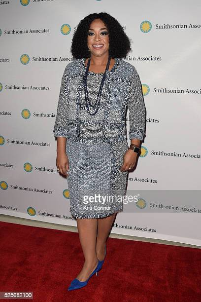 Producer Shonda Rhimes poses on the red carpet during the 'Scandalous' event hosted by the Smithsonian Associates with Shonda Rhimes and the cast of...