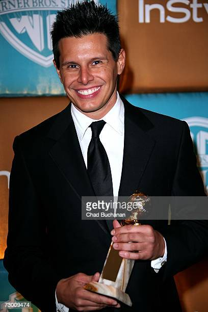 "Producer Silvio Horta with his award for Best Television Comedy Series for ""Ugly Betty"" arrives at the In Style Magazine and Warner Bros. Studios..."