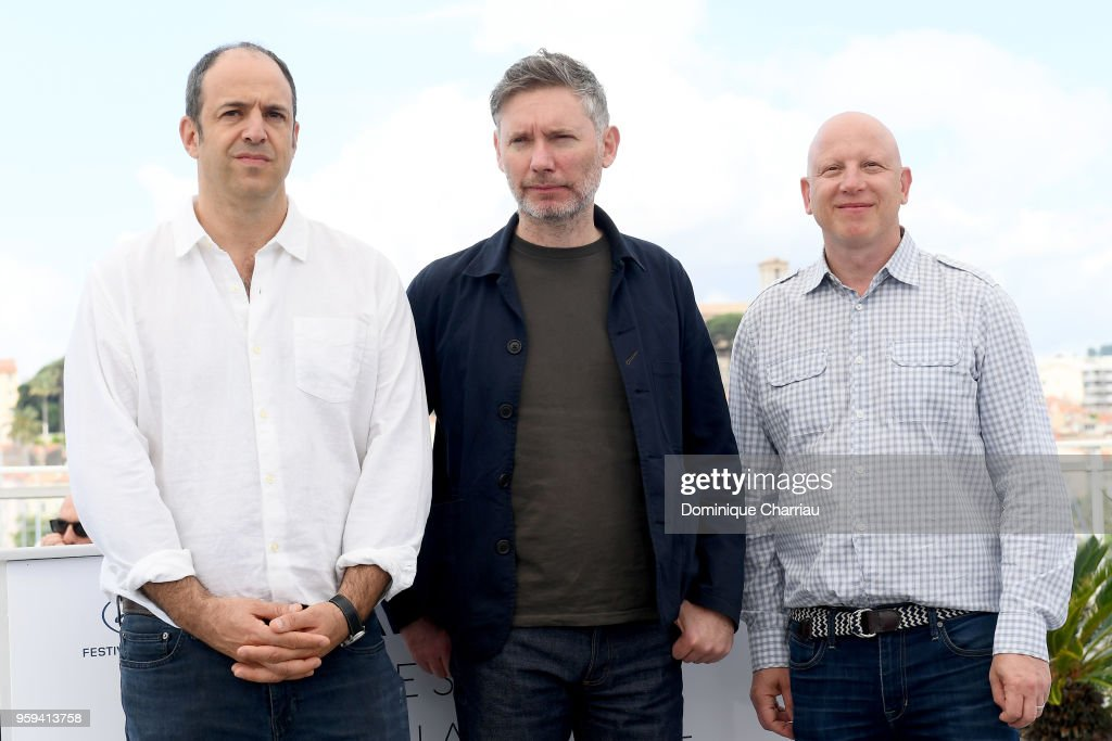 Producer Simon Chinn, director Kevin Macdonald and producer Jonathan Chinn attend 'Whitney' Photocall during the 71st annual Cannes Film Festival at Palais des Festivals on May 17, 2018 in Cannes, France.