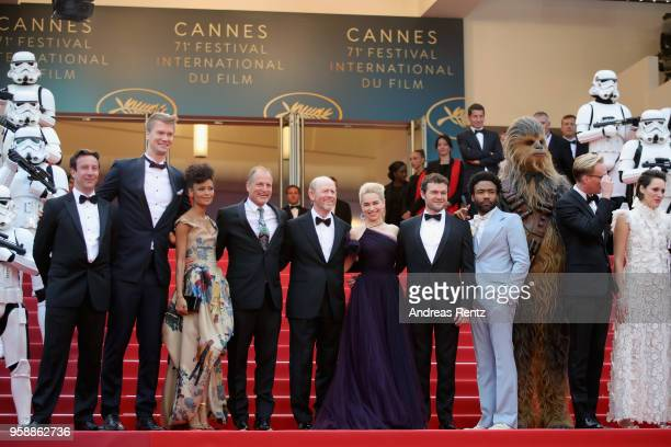 Producer Simon Emanuel actor Joonas Suotamo actress Thandie Newton actor Woody Harrelson director Ron Howard actress Emilia Clarke actor Alden...