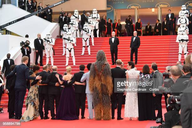 Producer Simon Emanuel Actor Joonas Suotamo Chewbacca actor Woody Harrelson director Ron Howard actress Emilia Clarke actor Alden Ehrenreich actor...