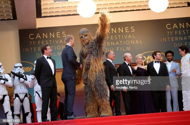 Producer Simon Emanuel actor Joonas Suotamo Chewbacca actress Thandie Newton actor Woody Harrelson director Ron Howard actress Emilia Clarke actor...
