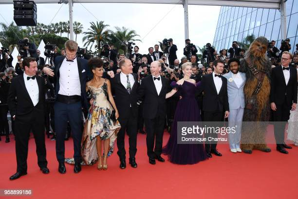 Producer Simon Emanuel actors Joonas Suotamo Thandie Newton Woody Harrelson director Ron Howard actors Emilia Clarke Alden Ehrenreich Donald Glover...