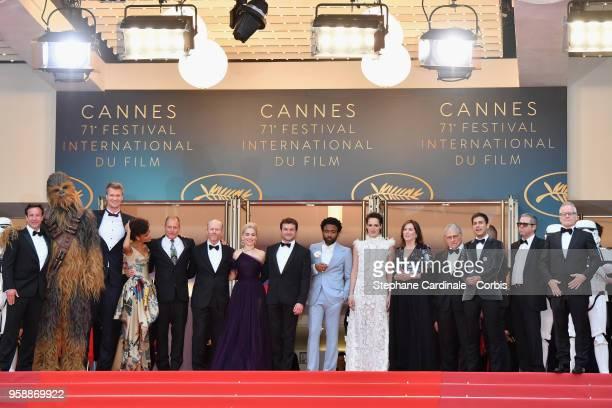 Producer Simon Emanuel Chewbacca actor Joonas Suotamo actress Thandie Newton actor Woody Harrelson director Ron Howard actress Emilia Clarke actors...