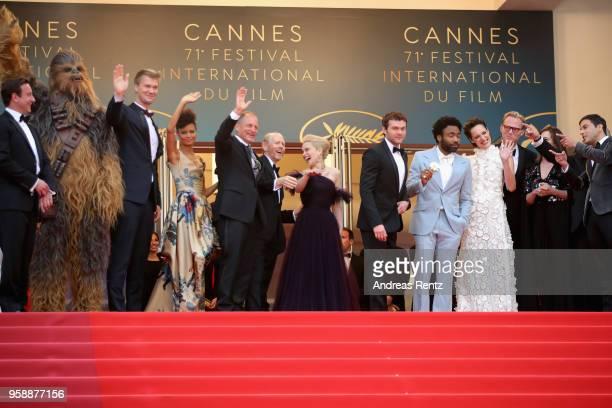 Producer Simon Emanuel Chewbacca actor Joonas Suotamo actress Thandie Newton actor Woody Harrelson director Ron Howard actress Emilia Clarke actor...