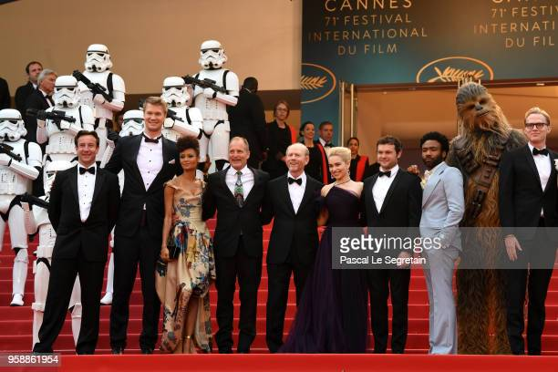 Producer Simon Emanuel, Joonas Suotamo, Thandie Newton, Woody Harrelson, Cannes Film Festival Director Thierry Fremaux, Ron Howard, Emilia Clarke,...