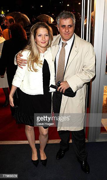 Producer Simon Halfon and his guest arrive at the UK film premiere of 'Sleuth' at the Odeon West End on November 18 2007 in London England