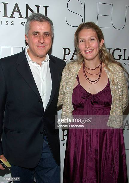Producer Simon Halfon and wife Annette Halfon arrive to the New York premiere of Sleuth at the Paris Theater on October 2 2007 in New York City