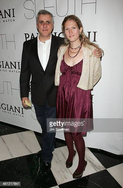 Producer Simon Halfon and wife Annette Halfon arrives at Sleuth premiere at the Paris Theater on October 2 2007 in New York City