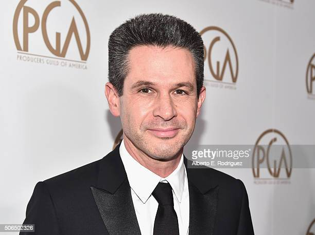 Producer Simon Kinberg attends the 27th Annual Producers Guild Of America Awards at the Hyatt Regency Century Plaza on January 23 2016 in Century...