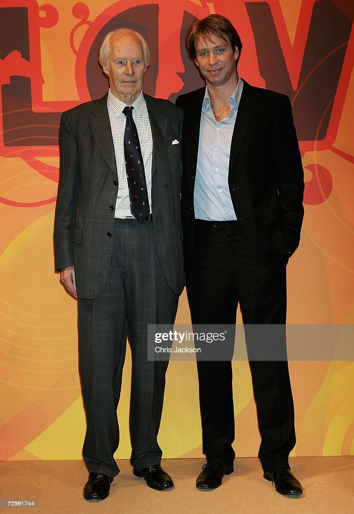 Producer Sir George Martin and his son Giles are seen at the Launch of the New Beatles Album, 'Love' at Abbey Road Studios on November 17, 2006 in London, England