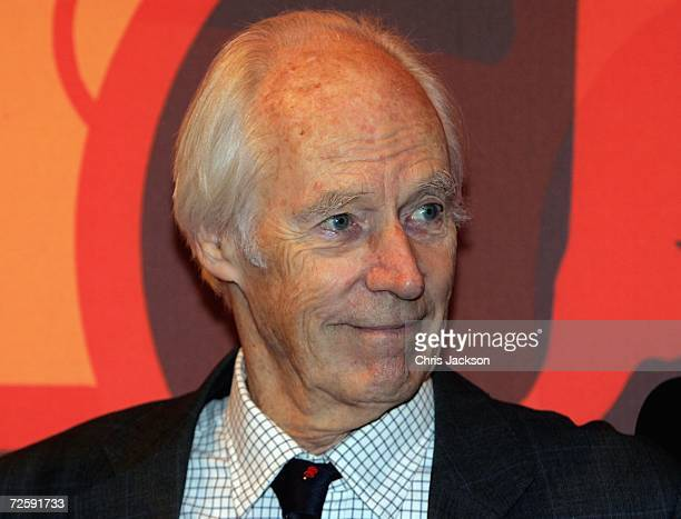 Producer Sir George Martin is seen at the Launch of the New Beatles Album 'Love' at Abbey Road Studios on November 17 2006 in London England