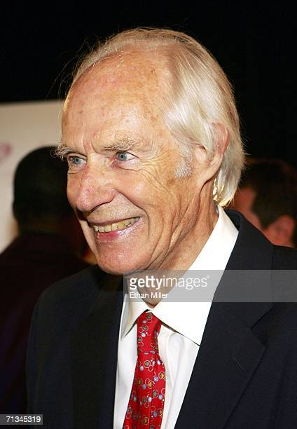 Producer Sir George Martin the original producer for the Beatles arrives at the gala premiere of 'The Beatles LOVE by Cirque du Soleil' at The Mirage...
