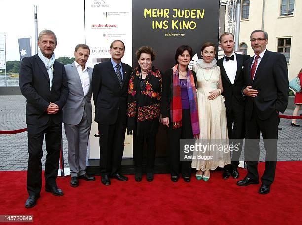 Producer Soentge Wortmann Richy Mueller Yakov HadasHandelsmann Israeli ambassador in Berlin Nicola Galliner president of the festival Mrs Hadas...
