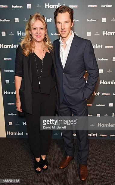 Producer Sonia Friedman and cast member Benedict Cumberbatch attend an after party following the press night performance of Hamlet at the Barbican...