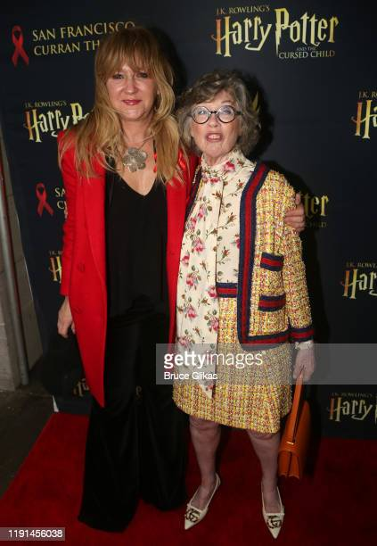 Producer Sonia Friedman and Theater Producer Carole Shorenstein Hays pose at the opening night of Harry Potter and The Cursed Child Parts One 2 at...