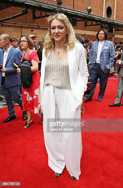 Producer Sonia Friedman attends the press preview of 'Harry Potter The Cursed Child' at The Palace Theatre on July 30 2016 in London England
