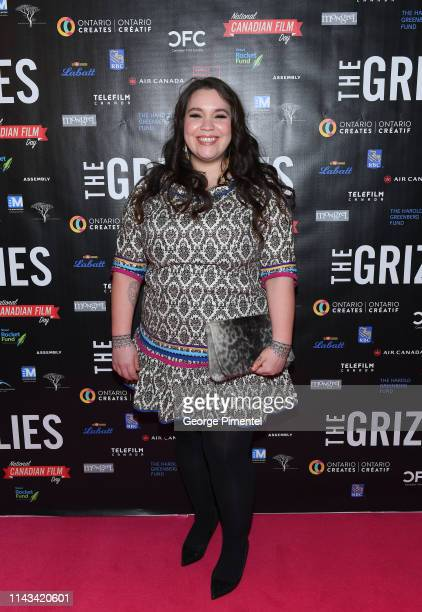 """Producer Stacey Aglok MacDonald attends """"The Grizzlies"""" premiere held at Yonge and Dundas Cineplex Cinemas on April 17, 2019 in Toronto, Canada."""