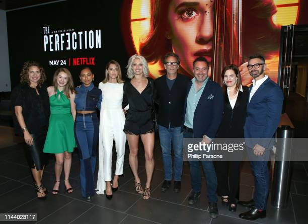 Producer Stacey Reiss actors Molly Grace Logan Browning Allison Williams Alaina Huffman and Steven Weber producer/director/cowriter Richard Shepard...