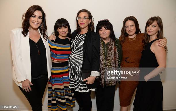 Producer Stacy Rukeyser actress Constance Zimmer writer Sarah Gertrude Shapiro director Holly Dale actress Caroline Dhavernas and writer Tara...