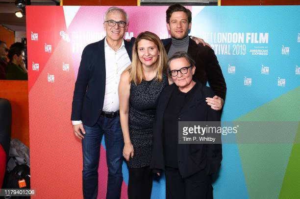 "Producer, Stanislaw Dziedzic, Producer Andrea Chalupa, Actor, James Norton and Director, Agnieszka Holland attend the ""Mr Jones"" UK Premiere during..."
