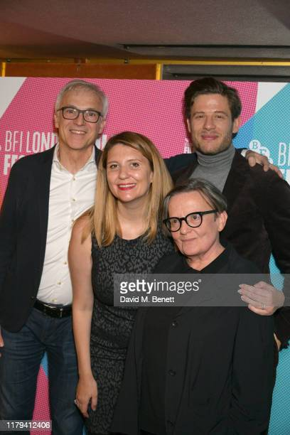 "Producer, Stanislaw Dziedzic, Producer Andrea Chalupa, Actor, James Norton and Director, Agnieszka Holland attend the UK Premiere of ""Mr. Jones""..."